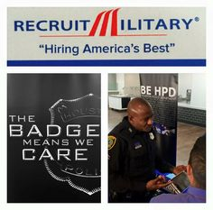HPD is at the @RecruitMilitary event at Minute Maid Park right now! Stop by and learn how to start your #career with us! #jobs #hiring
