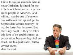 Jon Stewart on entitlement