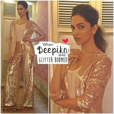 Deepika paints the town glittery.... #DeepikaPadukone #CelebStyle #Kapsons