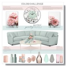 """""""Pastels"""" by stranjakivana ❤ liked on Polyvore featuring interior, interiors, interior design, home, home decor, interior decorating, Korridor, Franz Collection, Pier 1 Imports and Incipit"""
