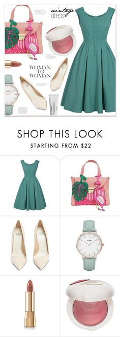 """""""vintage dress"""" by mycherryblossom ❤ liked on Polyvore featuring Francesco Russo, CLUSE, Dolce&Gabbana, Too Faced Cosmetics, Byredo and vintage"""