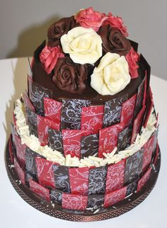 CHOCOLATE WEDDING CAKE by Little Louis Home Bakery, via Flickr