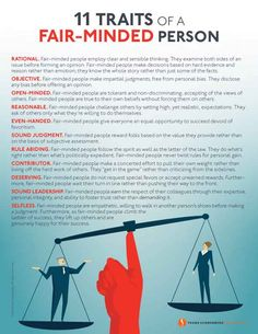 11 Traits of a Fair-Minded Person I Values to Live By I www.FrankSonnenbergOnline.com