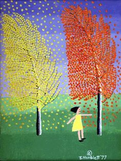 """Theora Hamblett """"It was the trees along the side of the road that inspired me to paint."""" Theora Hamblett 1977 in the documentary """"Four Women Artists"""""""