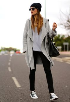 Street Style Nowi Gray Converse White Look Main Single
