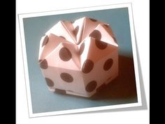 My first Paper Folding Video. Model: Diamond Box , Gift Box Type : Hexagonal Box.