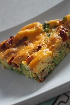 Another clean wheat-free dinner, lunch or breakfast idea. This one is super quick to throw together on a busy night - egg frittata, bacon, sun-dried tomato, broccoli, cheddar cheese. Even my 5 year old ate it.