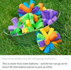 Water Play alternative to Sprinklers