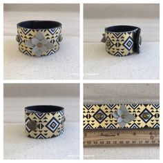 A personal favorite from my Etsy shop https://www.etsy.com/listing/512404437/gold-bracelet-mixed-media-cuff-fabric