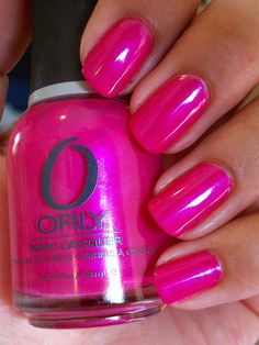 Orly nail polish in Hawaiian Punch.    A vibrant shimmery magenta. This color is so beautiful!