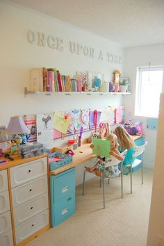 Colorful yet simple design for your little ones study room