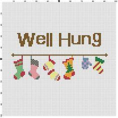 Well Hung Cross Stitch Pattern Instant by SnarkyArtCompany
