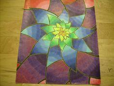 Fleurs d'énergie - Crayons de couleurs et encre - par Florence Berthold