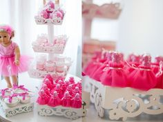 American Girl Doll 9th birthday party with via Kara's Party Ideas | Cake, decor, cupcakes, games and more! KarasPartyIdeas.com #americangirldoll #girlyparty #pinkparty (10)
