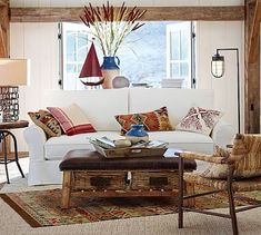 PB Comfort Roll Arm Slipcovered Sofa Collection #potterybarn