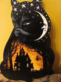Primitive Folk Art Pumpkin Queen Doll #2 OOAK Halloween By Maddys ...