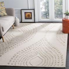 Safavieh Handmade Bella Abstract Sand / Brown Wool Rug (6' x 9')