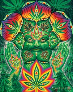 Alex Grey Psychedelic Painting Art Gallery Cannabacchus photo