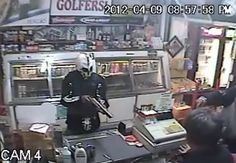 gun, robbery, shop, camera, news, mask, usa