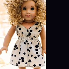 """Salina Dress 18"""" Doll Clothes   This Liberty Jane Clothing 18 Inch Doll clothes pattern will make a great addition to your American Girl dolls wardrobe!"""