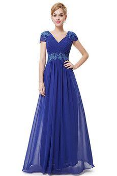 A-Line/Princess V-neck Floor-length Chiffon Bridesmaids Dress