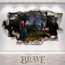 🥇 Vinilos Rapunzel Disney Enredados 3D Rapunzel Disney, Brave, Polaroid Film, 3d, Painting, Decorate Apartment, Frames, Decorating Bedrooms, Decorate Walls