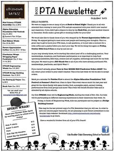 Elementary School Newsletter Articles | Elementary School Newsletter Ideas Danielle, you can always change up the way ours looks if you want. I can't imagine there being any grumblings about it.