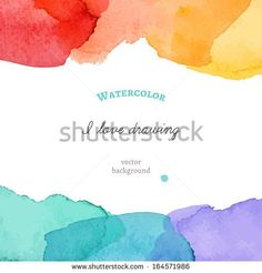 Bright watercolor background. Vector illustration