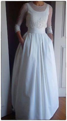 tot-hom vestido novia plumeti encaje chaqueta falda mikado romantico