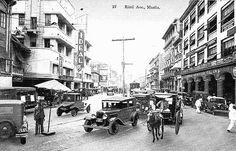 Rizal Avenue, Manila via Nostalgia de Felipinas Philippines Culture, Famous Architects, Time Photo, Back To The Future, City Life, Manila, Past, Beautiful Places, Street View