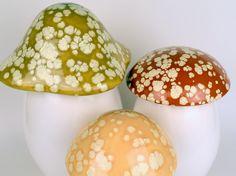 Ceramic Mushroom Canisters, Set of 3. $84.00, via Etsy.
