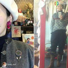 美女 on 美女again😁❤❤ repost @kuriko_kuri  #stitch #handstitched #手刺繍 #handembroidery #embroidery #자수 #hímzés #bordabo #broderie #stickerei #เย็บักถักร้อย #вышивка #Útsaumur #sweetseasonembroidery #earnings #embroideryart #Japan #日本 #originaldesign #痛くないイヤリング #耳環 #ponpon #刺し子 #sashiko #kuriko #東欧民芸クリコ