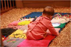 Mantita de actividades para bebe!! Muy facil de hacer..