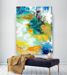 Extra Large Wall Art Original Handpainted Contemporary XL Abstract Painting Horizontal Vertical Huge Size Art Bright and Colorful Large Abstract Wall Art, Oil Painting Abstract, Abstract Canvas, Theo Van Doesburg, Plaster Sculpture, Extra Large Wall Art, Modern Wall Decor, Original Paintings, Art Paintings