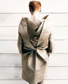 Layers, folds & twist - artful dress back detail; sculptural fashion // Zoo magazine editorial