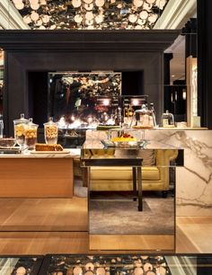 Finishes.. Marble, mirror, mid tone wood and charcoal | Rosewood London