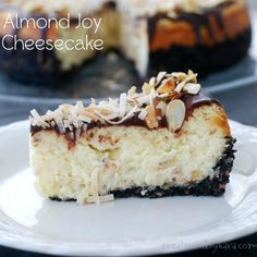 Almond Joy Coconut Cheesecake - If you like Almond Joy candy bars like I do, I'm betting that you will love this cheesecake!