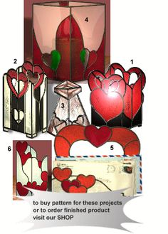 Valentine stained glass