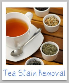 Tea stain removal guide, from clothing, upholstery and carpet {on Stain Removal 101}