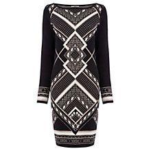 Buy Oasis Aztec Sparkle Dress, Black Online at johnlewis.com
