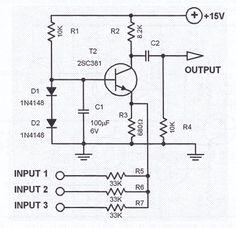 Flashing Blinking LED circuit using transistors -Schematic ...