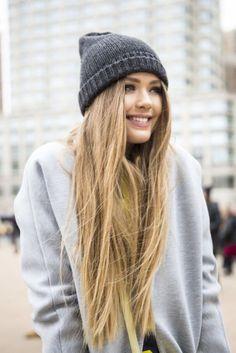 Lange Haare + Strickmütze = <3