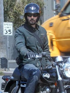 Keanu Reeves - Keanu Reeves Cruising On His Motorcycle In Hollywood. '47 Ronin' actor Keanu Reeves out for a cruise on his motorcycle in Hollywood, California on May 9, 2013.
