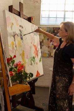 Visit the studio of abstract artist Helen van Stolk in this short film and interview by StateoftheART