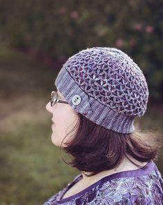 Kaleidoscope pattern by Kimberly Voisin. malabrigo Arroyo. Hat