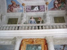 Villa Barbaro: The Hall of Olympus painted by Paolo Veronese - Palladio