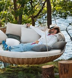 awesome suspension outdoor bed