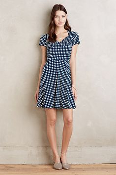 I like the style of this dress, but I have too many navy dresses.  Willa Dress #anthropologie