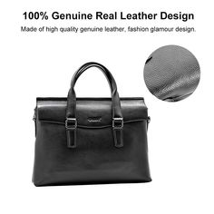 77cabc16bd2a eBay  Sponsored Men s Bag Brifecases Soft Real Leather Office Work Handbag  For Christmas Gift US