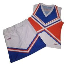 Our dye sublimated cheerleading uniforms from Maxxim Sports are made out of poly/spandex two-way rib knit interlock material and custom designed with team name and logo directly imprinted into the fabric. No need to purchase additional lettering for your uniform as everything is included in the base price.  These lightweight uniforms are a great budget friendly choice for your cheer or dance team.
